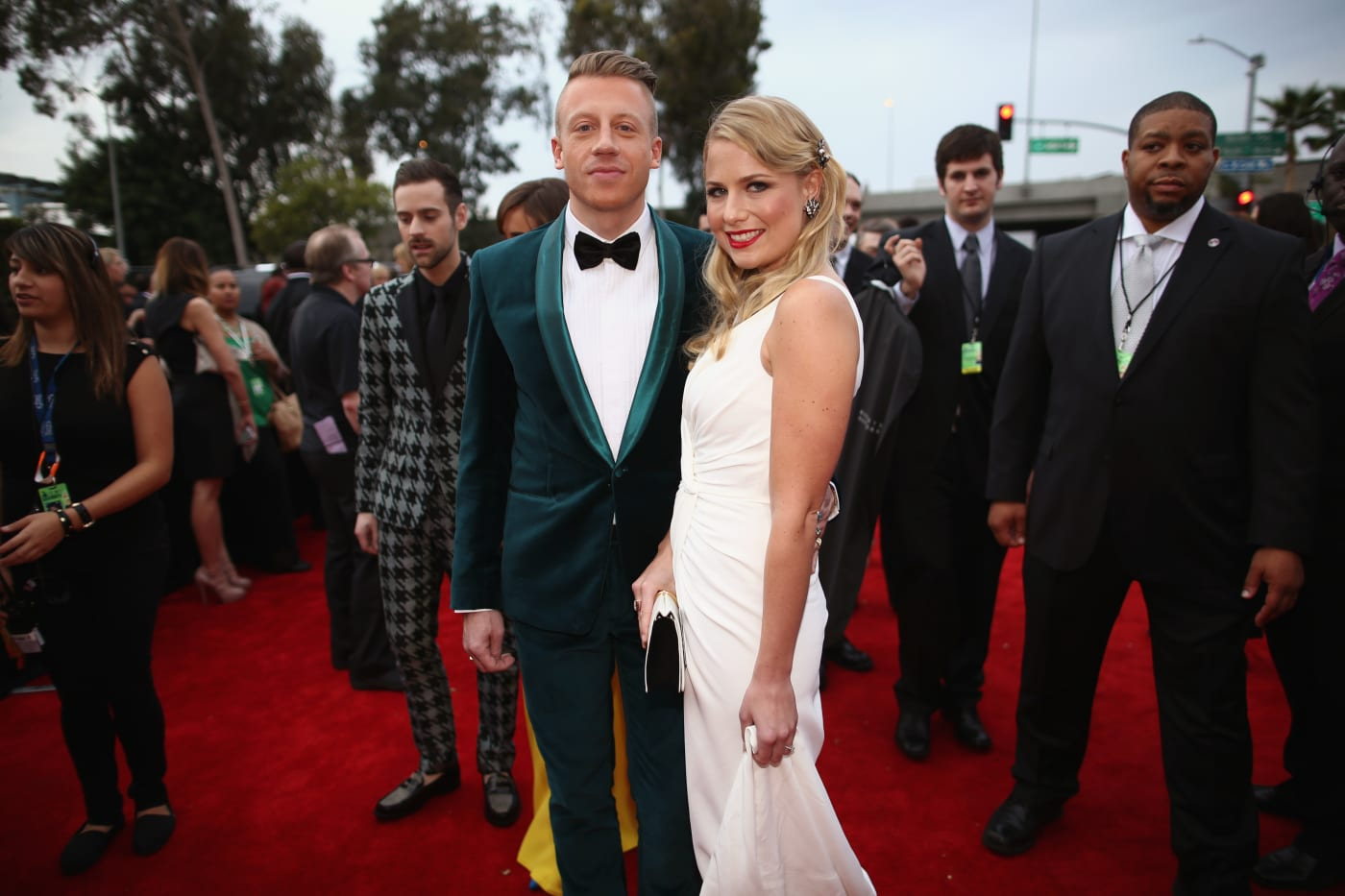 Macklemore and wife at Grammys 2014