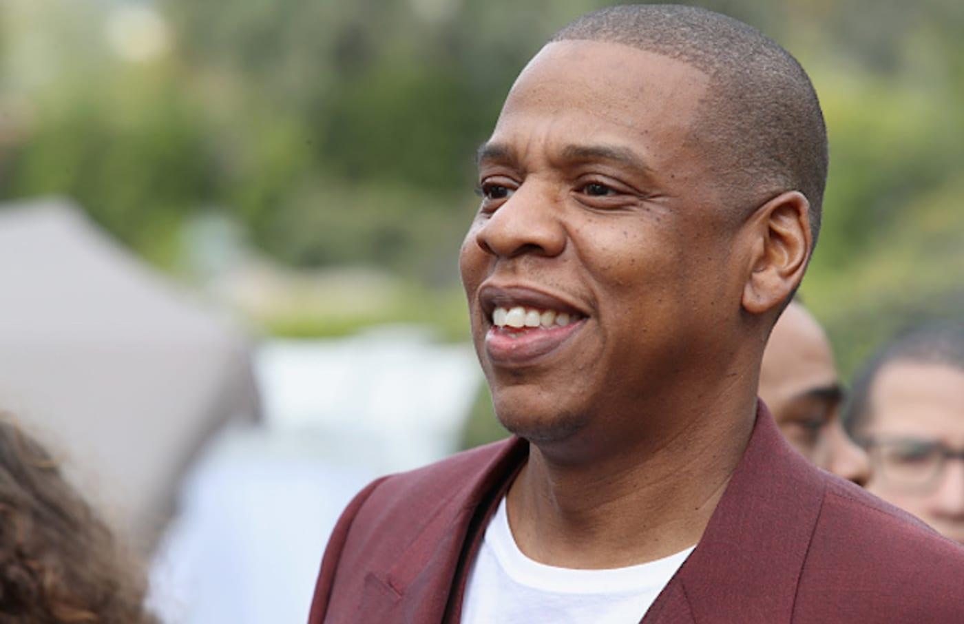Jay Z attends 2017 Roc Nation Pre Grammy Brunch