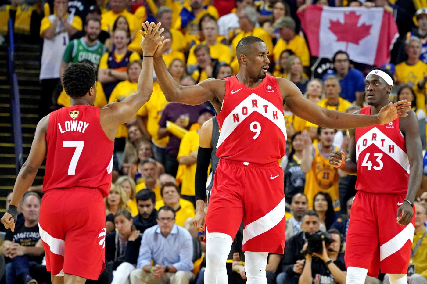 Lowry Ibaka Siakam NBA Finals Game 4 2019