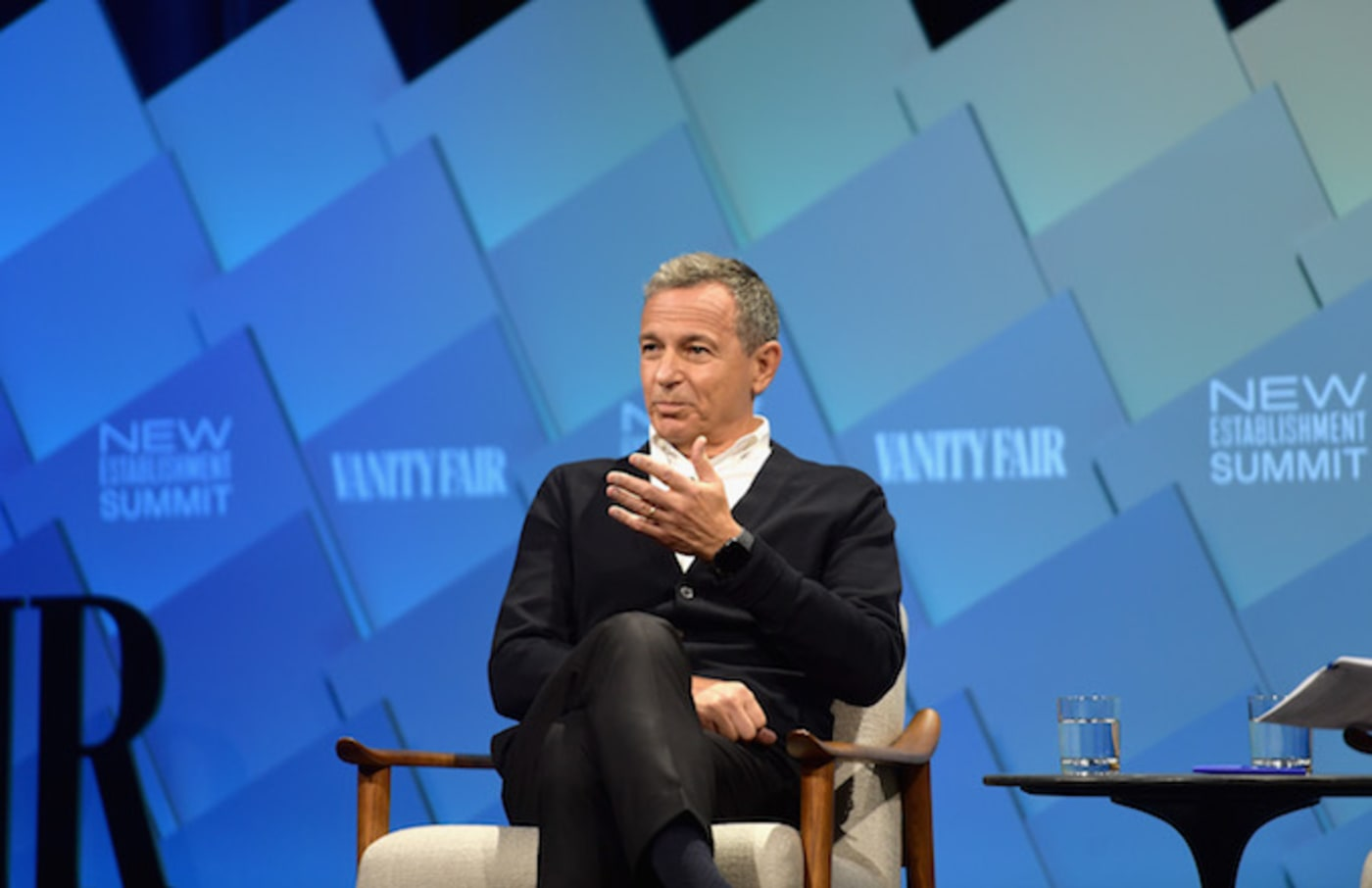 Robert A. Iger speaks onstage at Day 1 of the Vanity Fair New Establishment Summit 2018.