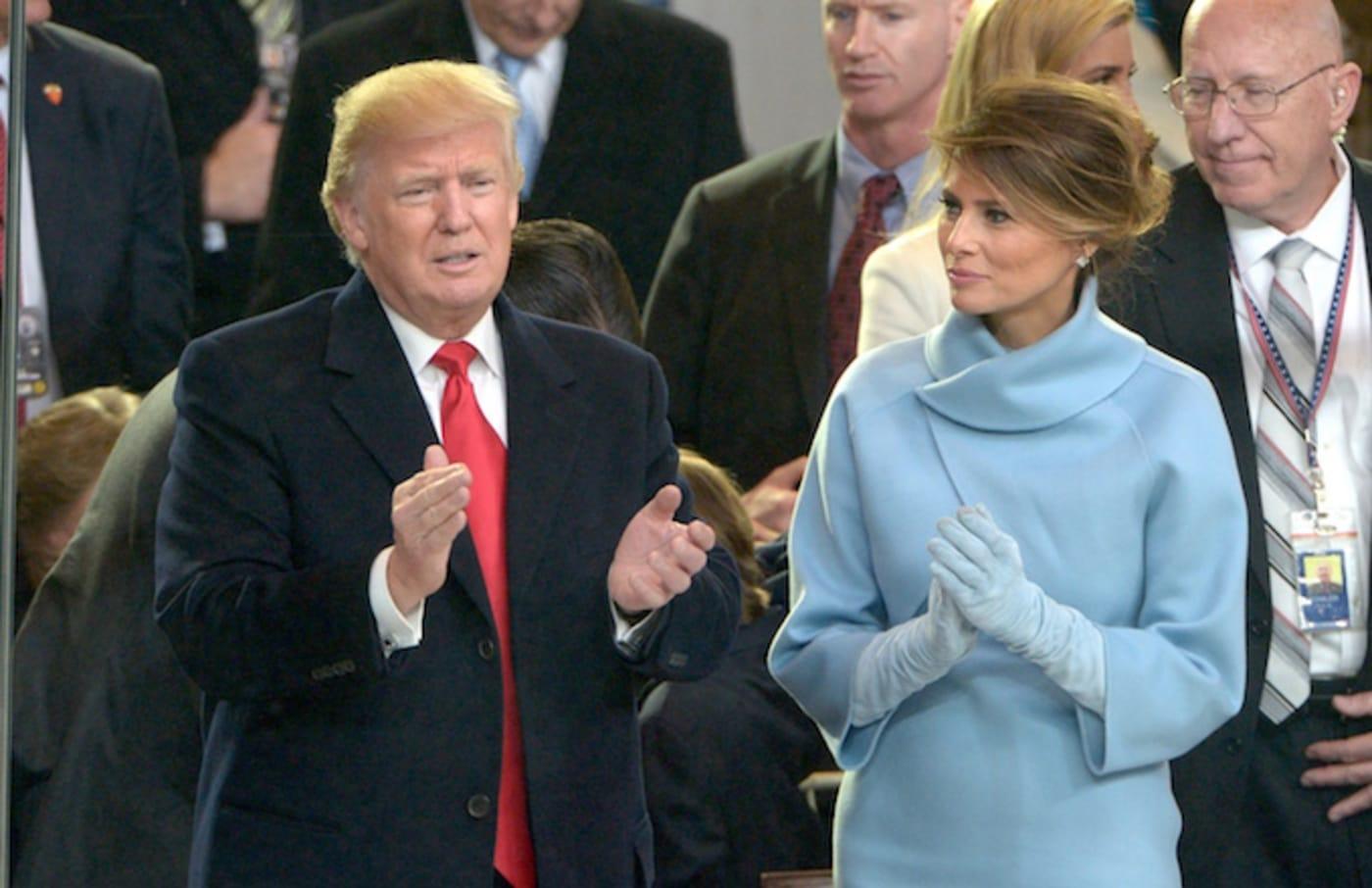Donald Trump during his inauguration.