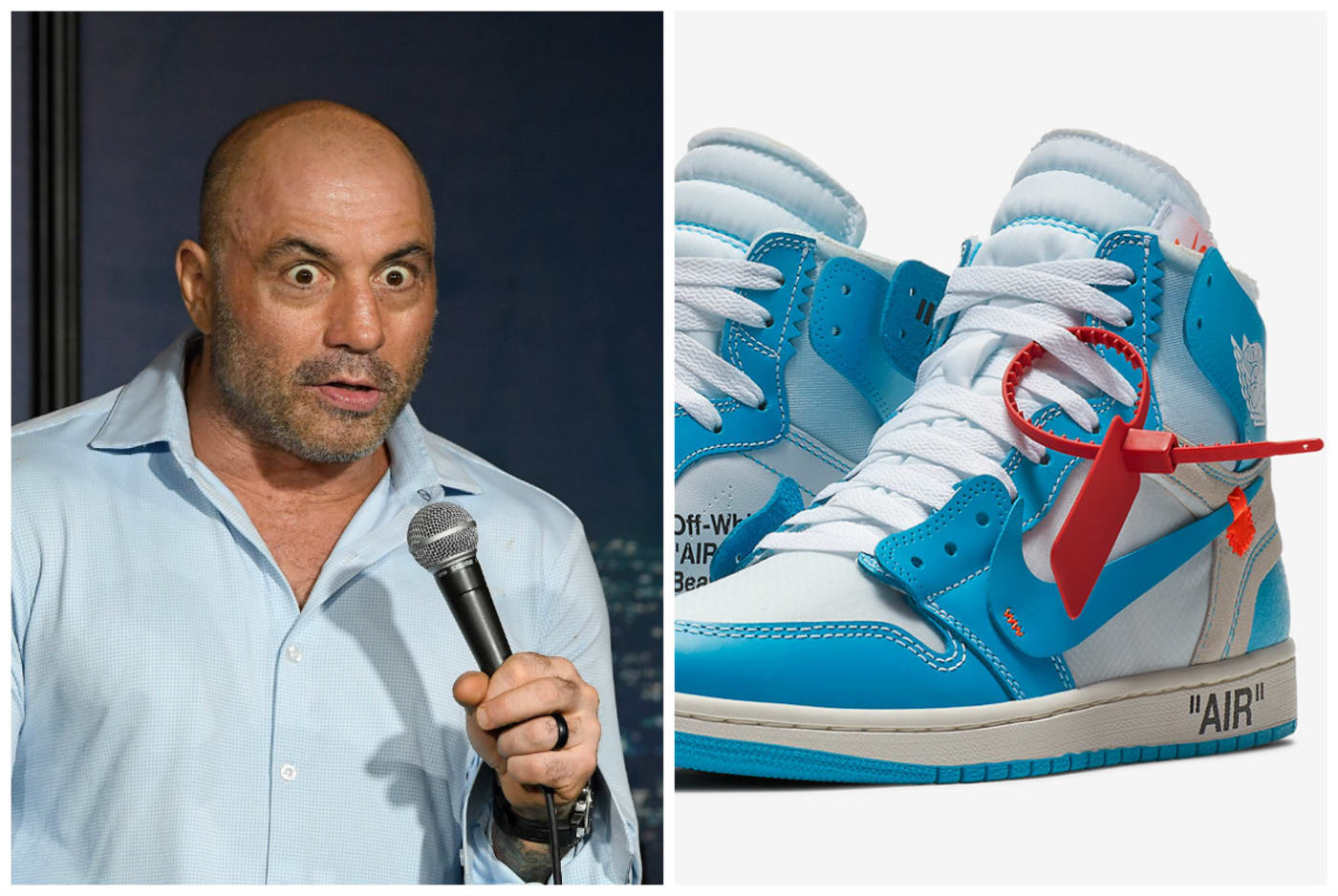 joe rogan off white sneakers