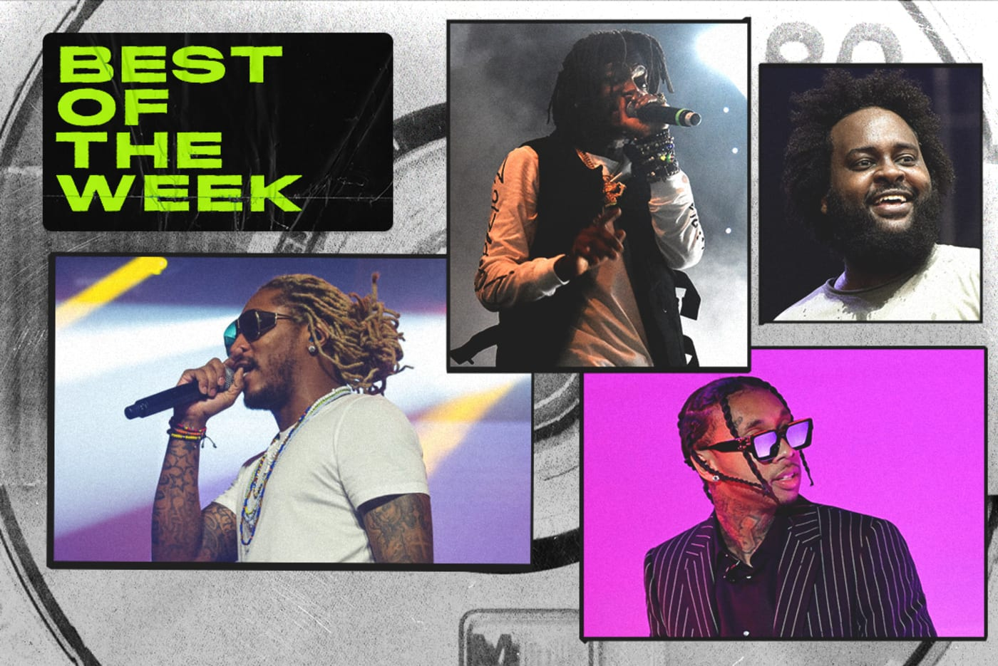 Best New Music graphic Future, Tyga, Bas and JID