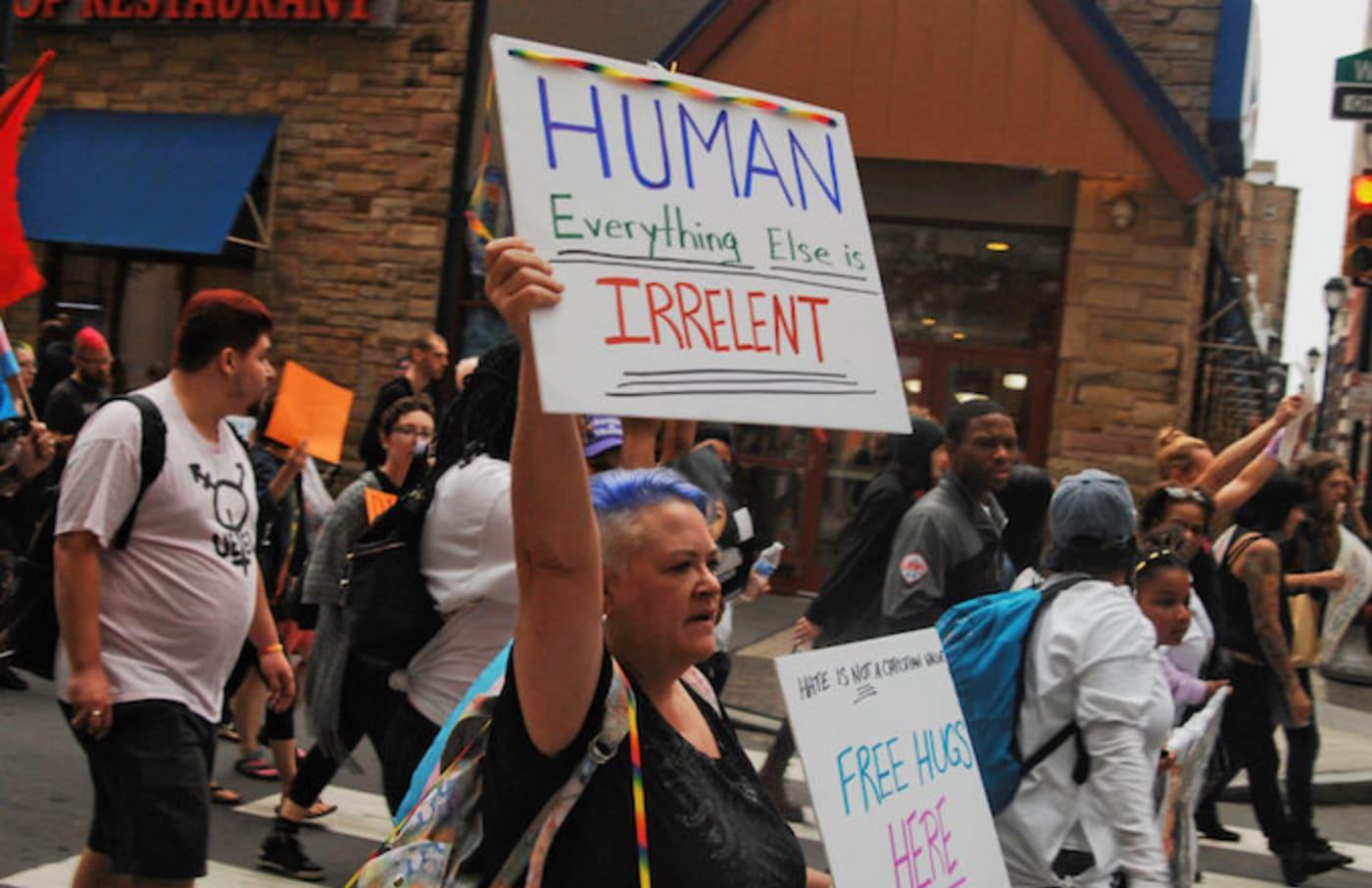 LGBTQ Transgender march