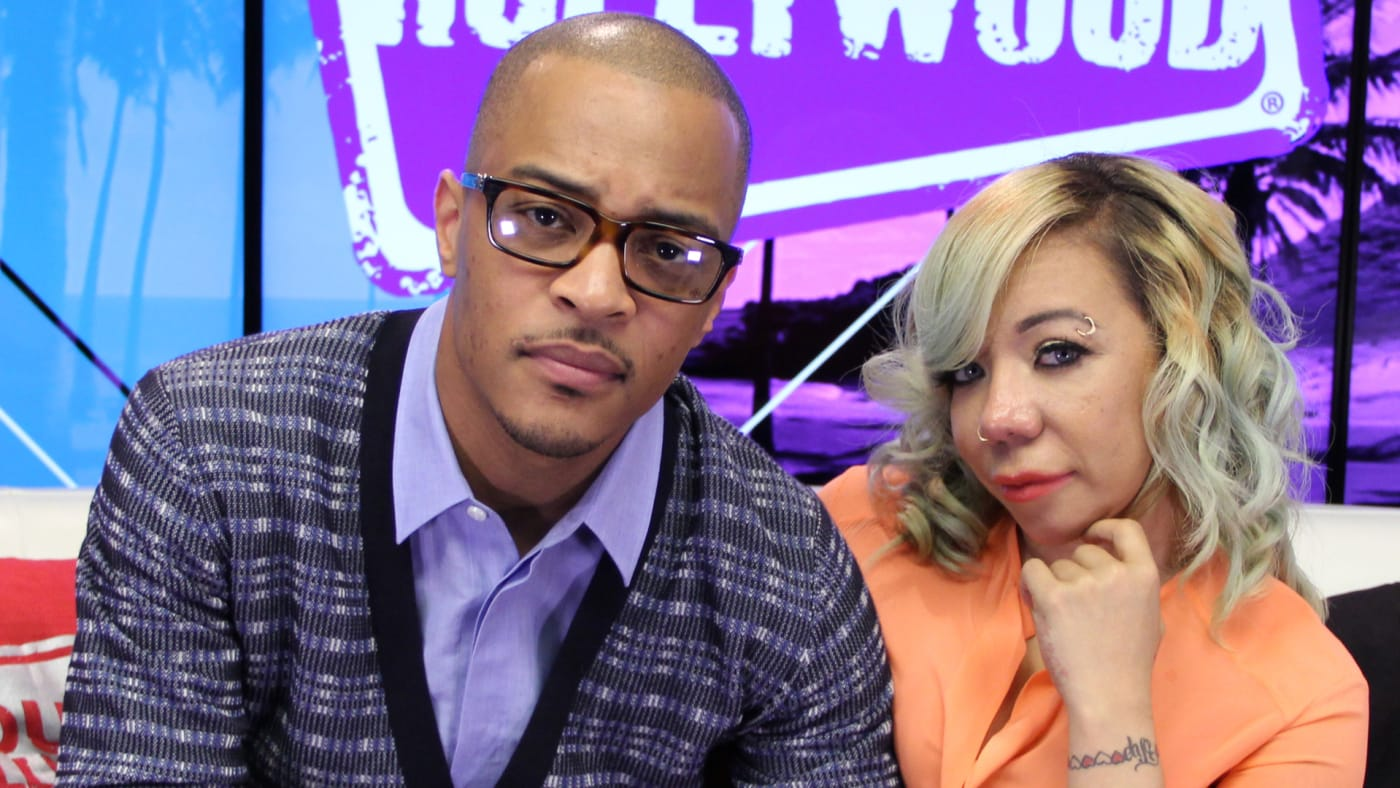 T.I. and Tiny at the Young Hollywood Studio.
