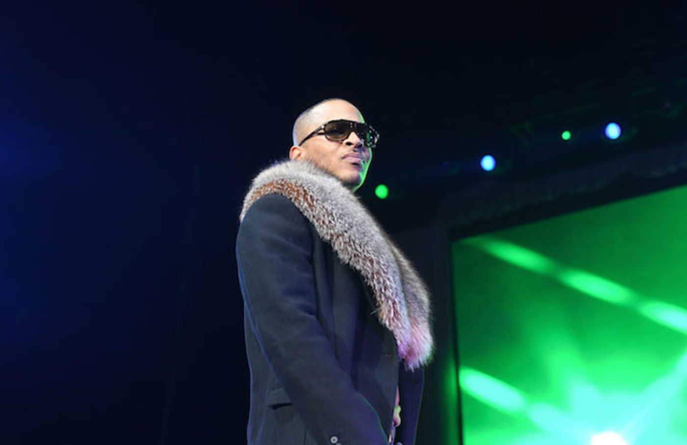 Rapper T.I. performs at the Great Xscape tour.
