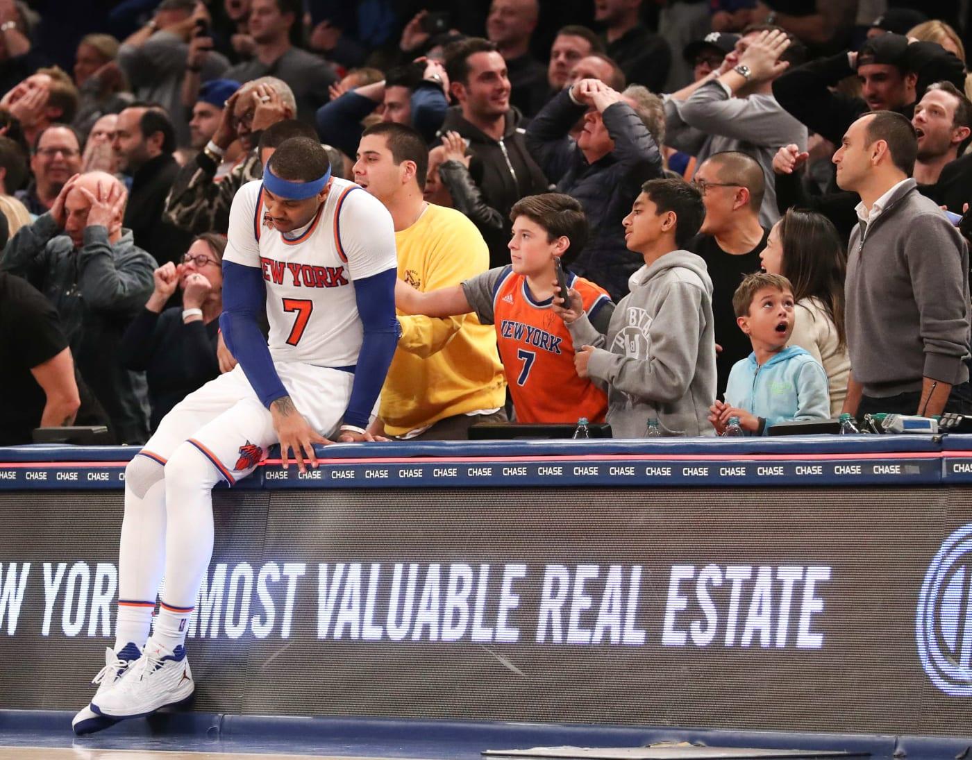 Carmelo Anthony Madison Square Garden 2017 Knicks Suns