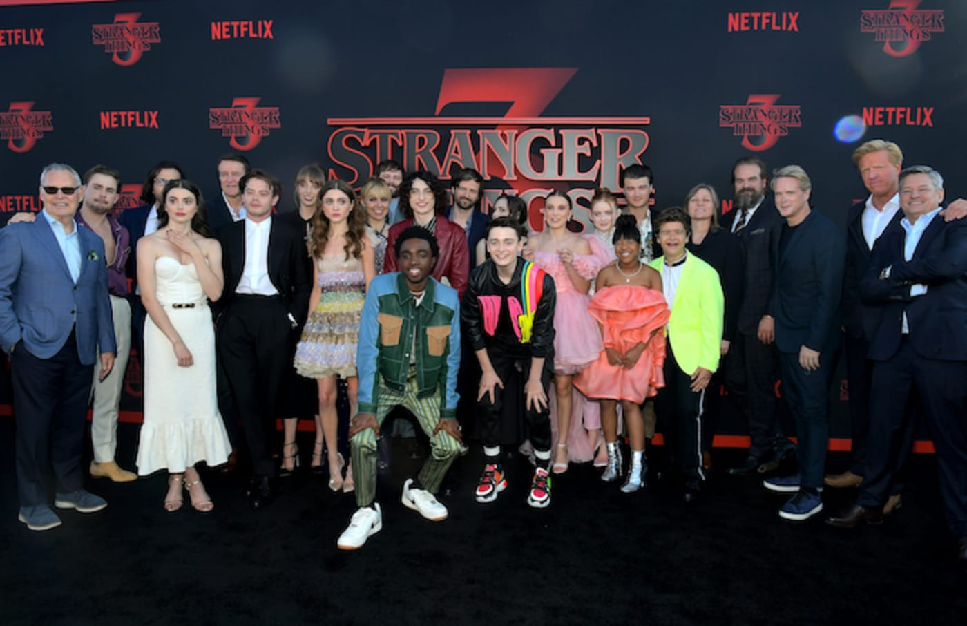 """Stranger Things cast and crew at the """"Stranger Things"""" Season 3 World Premiere."""