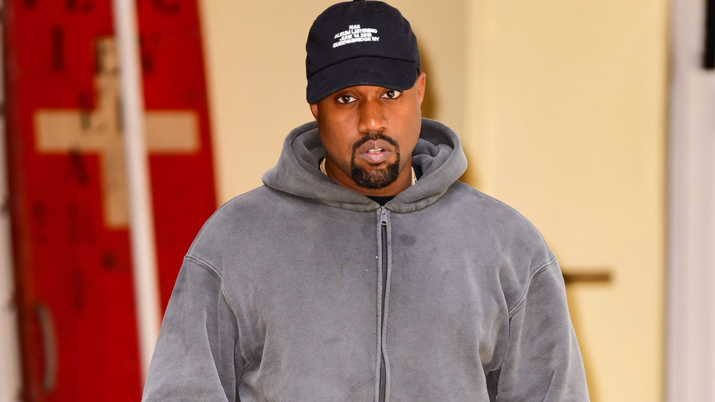 Kanye West spotted in New York City.