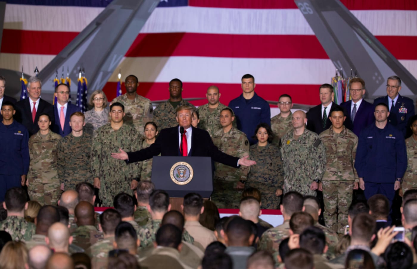 US President Donald Trump speaks at the signing ceremony for S.1709