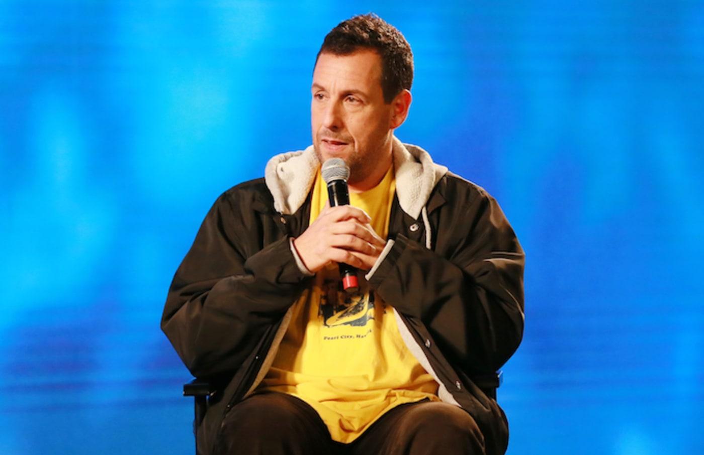 "Adam Sandler speak during panel discussion at FYC Event For Netflix's ""Adam Sandler: 100% Fresh."""