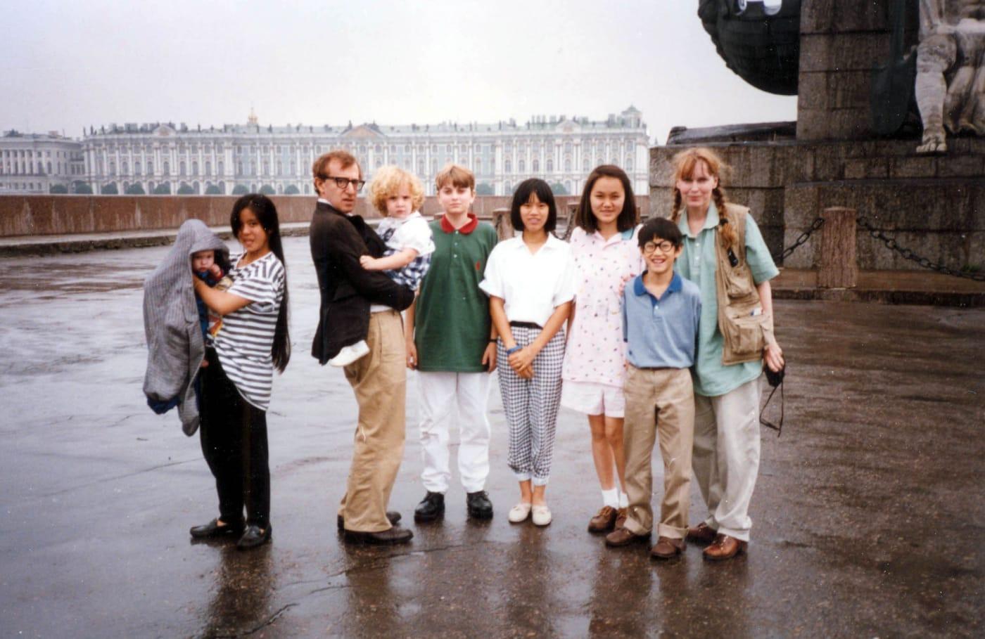 Woody Allen, Mia Farrow, and their children