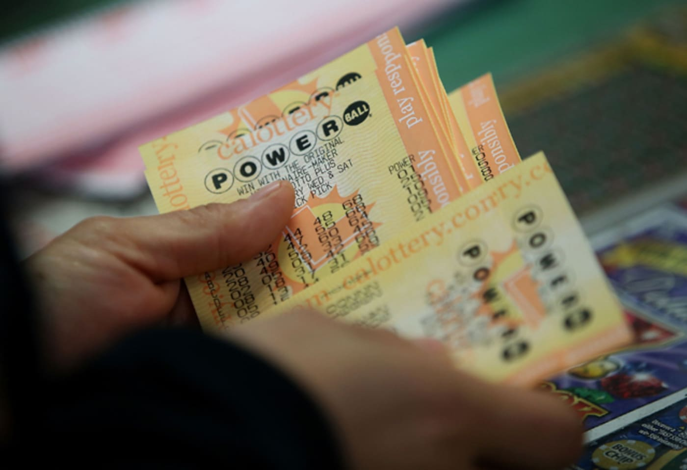 A customer buys Powerball tickets