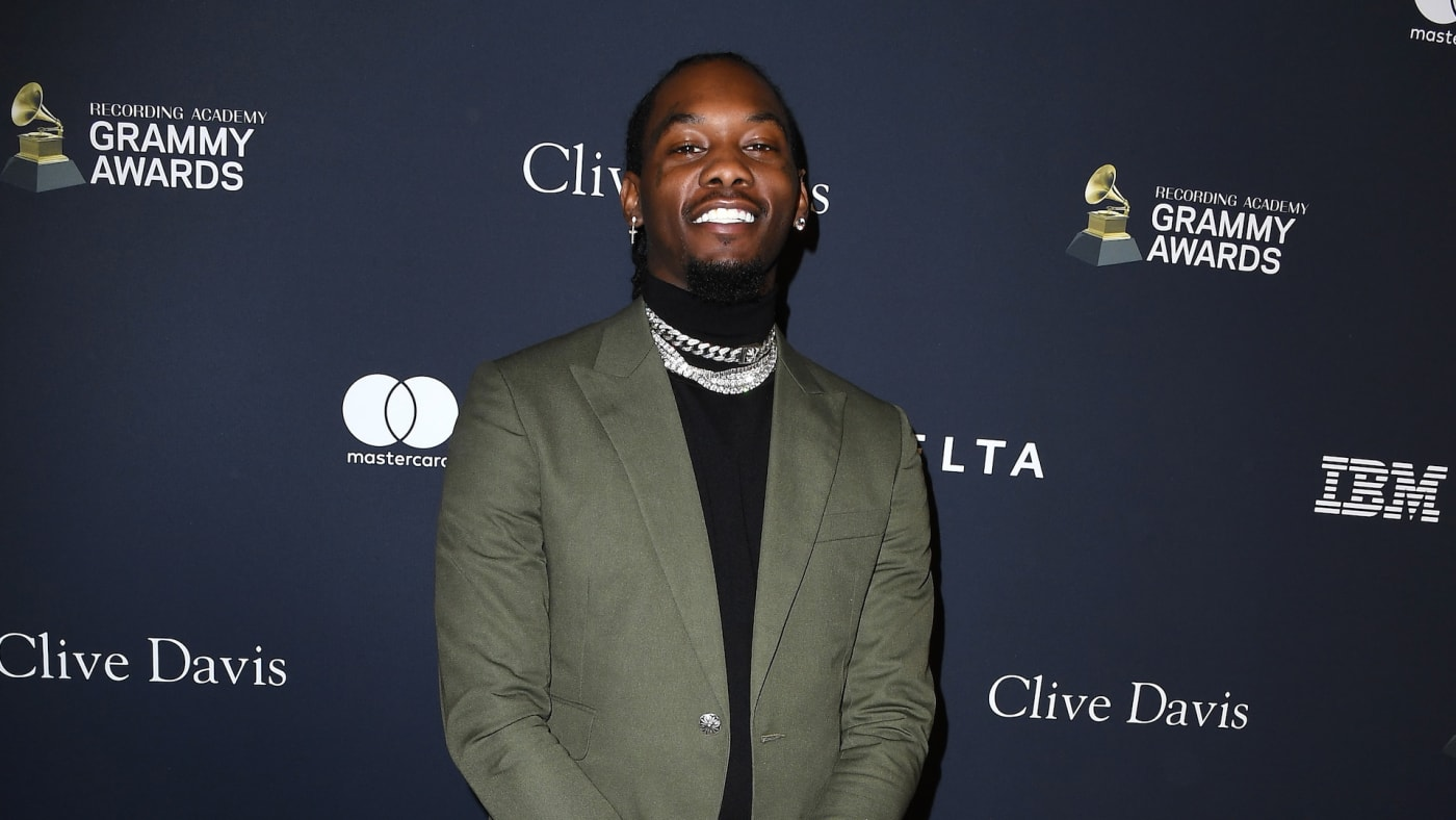 Offset arrives at the Pre GRAMMY Gala and GRAMMY Salute