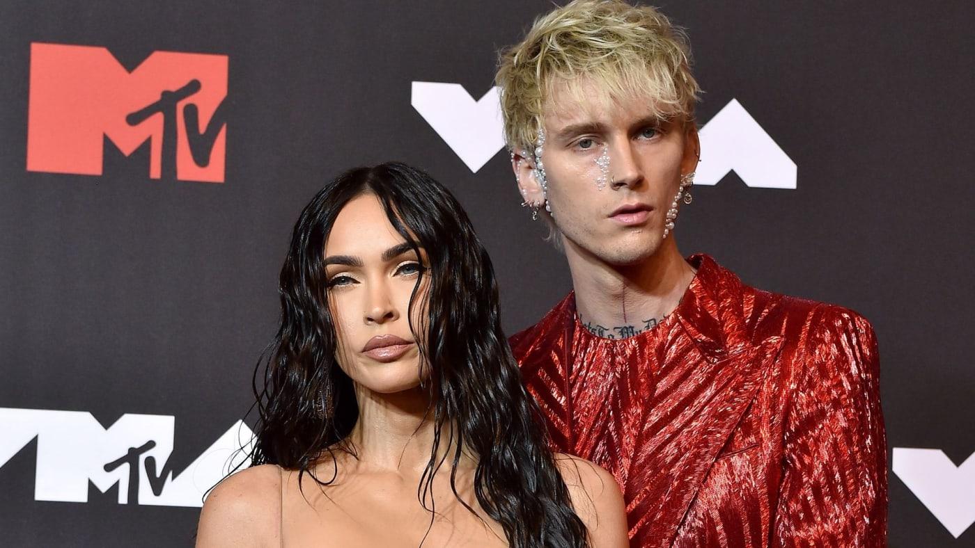 Machine Gun Kelly and Megan Fox at the 2021 MTV VMAs
