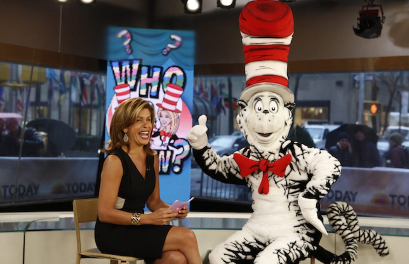 Hoda Kotb and the Cat In The Hat