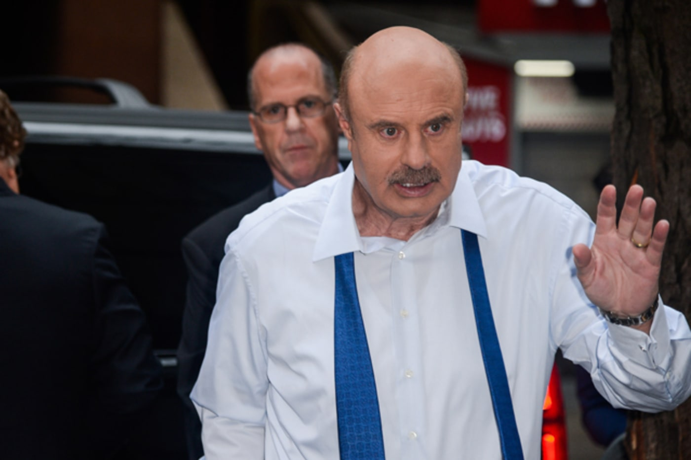 Phil McGraw enters the 'Today Show' taping