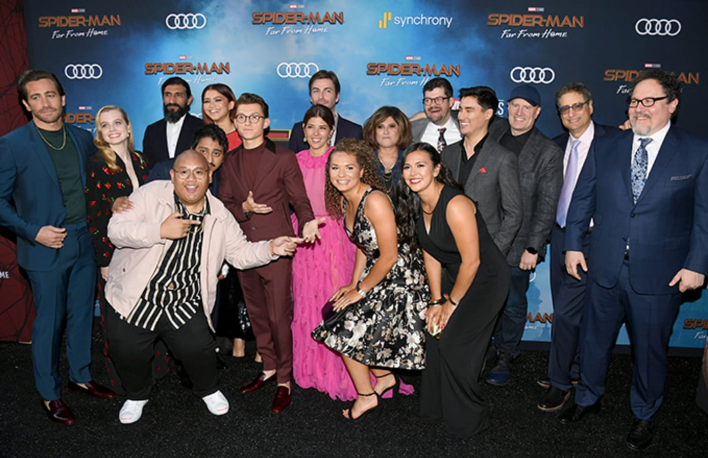Spider Man cast and producers during happier days.