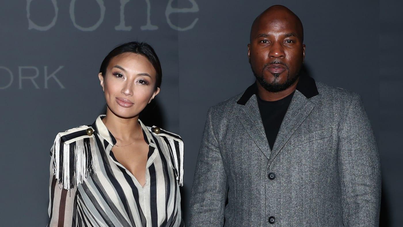 Jeannie Mai and Jeezy attends the Rag & Bone fashion show