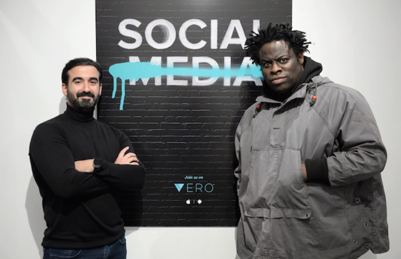 Ayman Hariri (left), founder of Vero, and Jeymes Samuel at a Vero event.