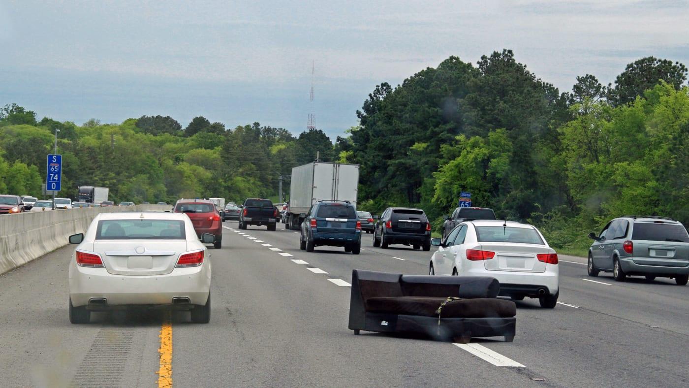 Hazard on the interstate.
