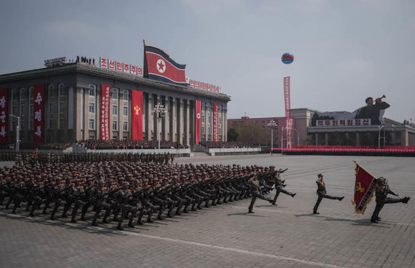 A North Korean military parade.