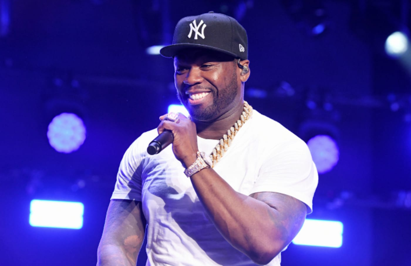 """Curtis """"50 Cent"""" Jackson performs onstage at STARZ Madison Square Garden """"Power"""""""