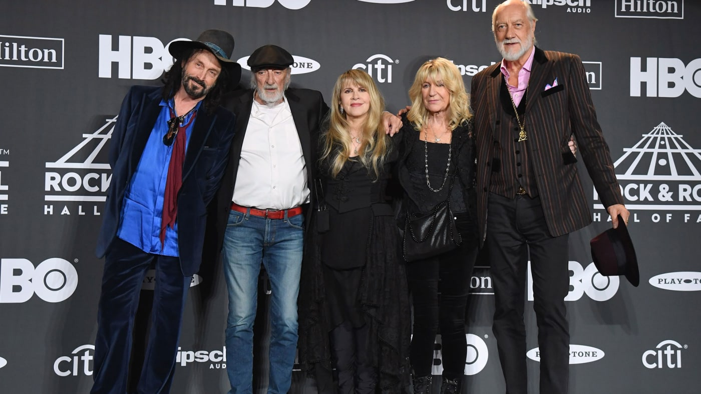 Stevie Nicks along with members of Fleetwood Mac.