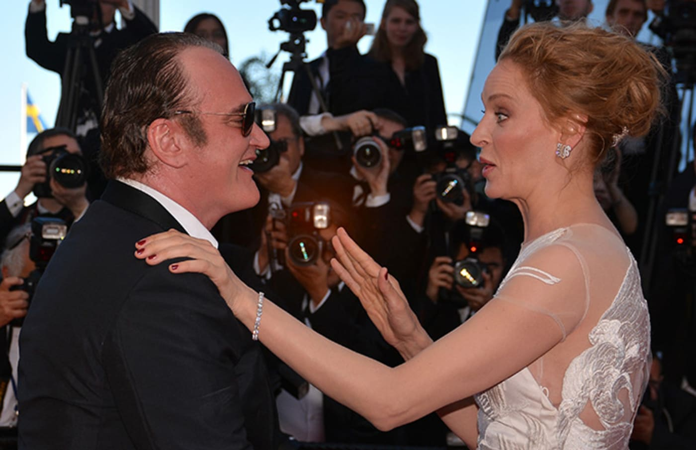 Uma Thurman and  Quentin Tarantino