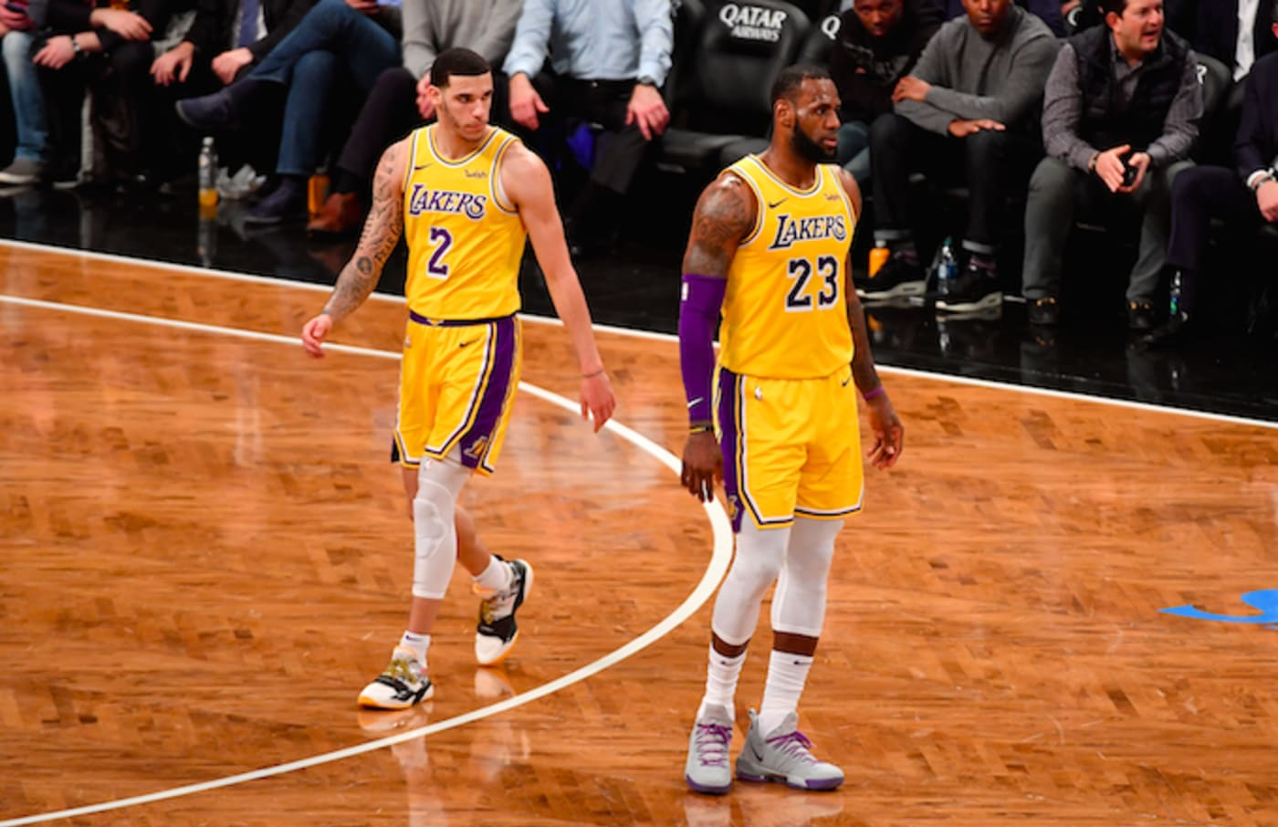 Lonzo Ball and LeBron James