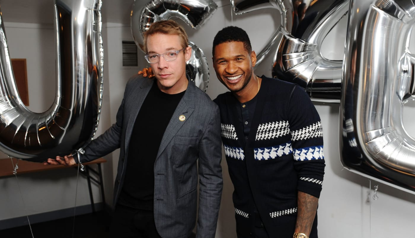 Diplo and Usher in 2012
