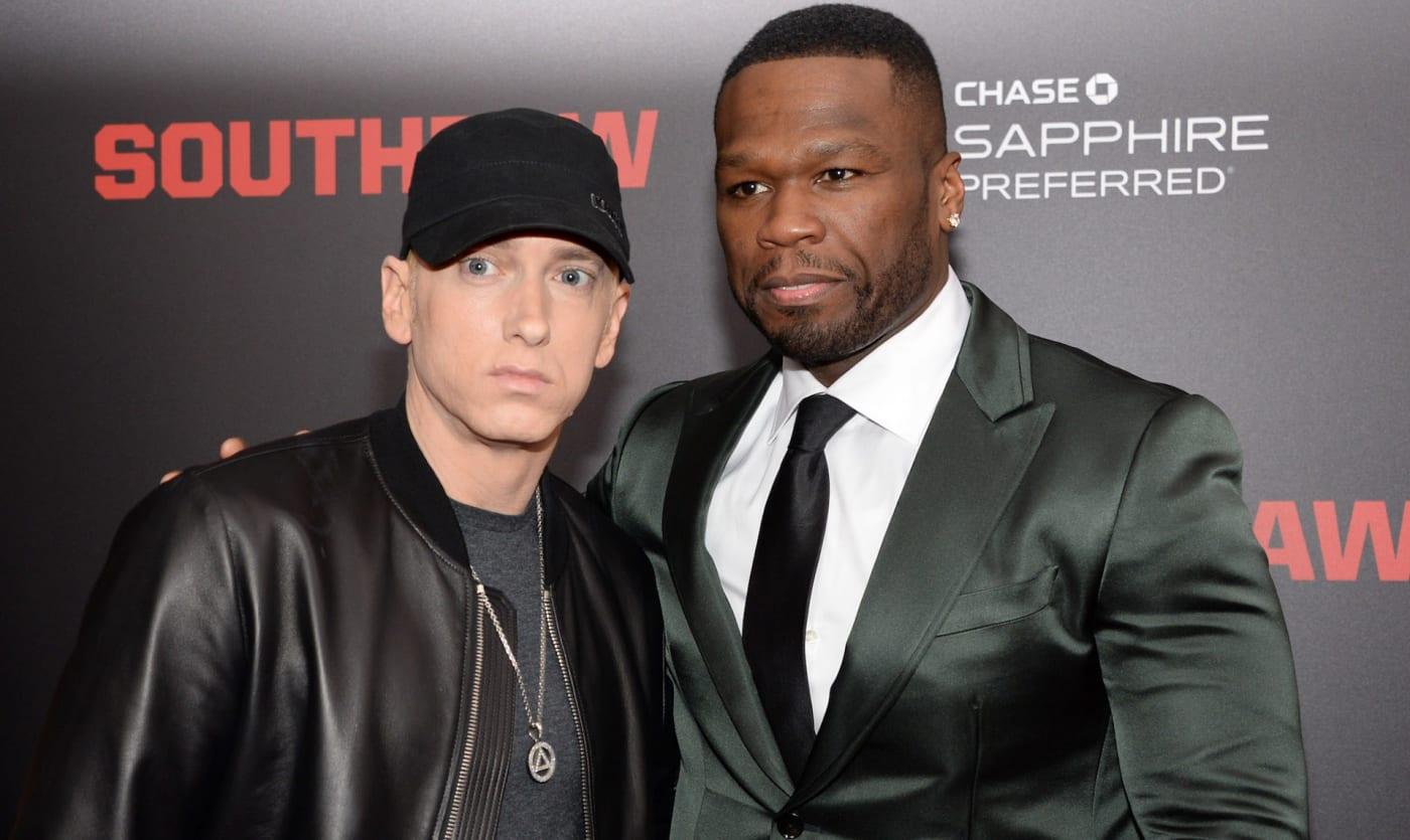 50 Cent and Eminem on red carpet