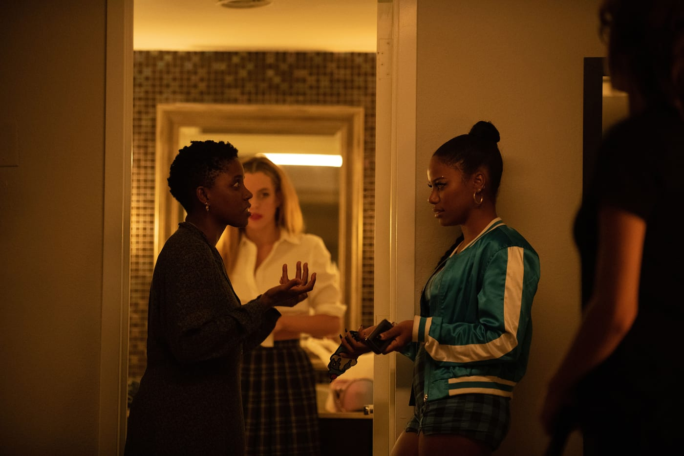 Janicza Bravo, Riley Keough, and Taylour Paige, A24's 'Zola' behind the scenes