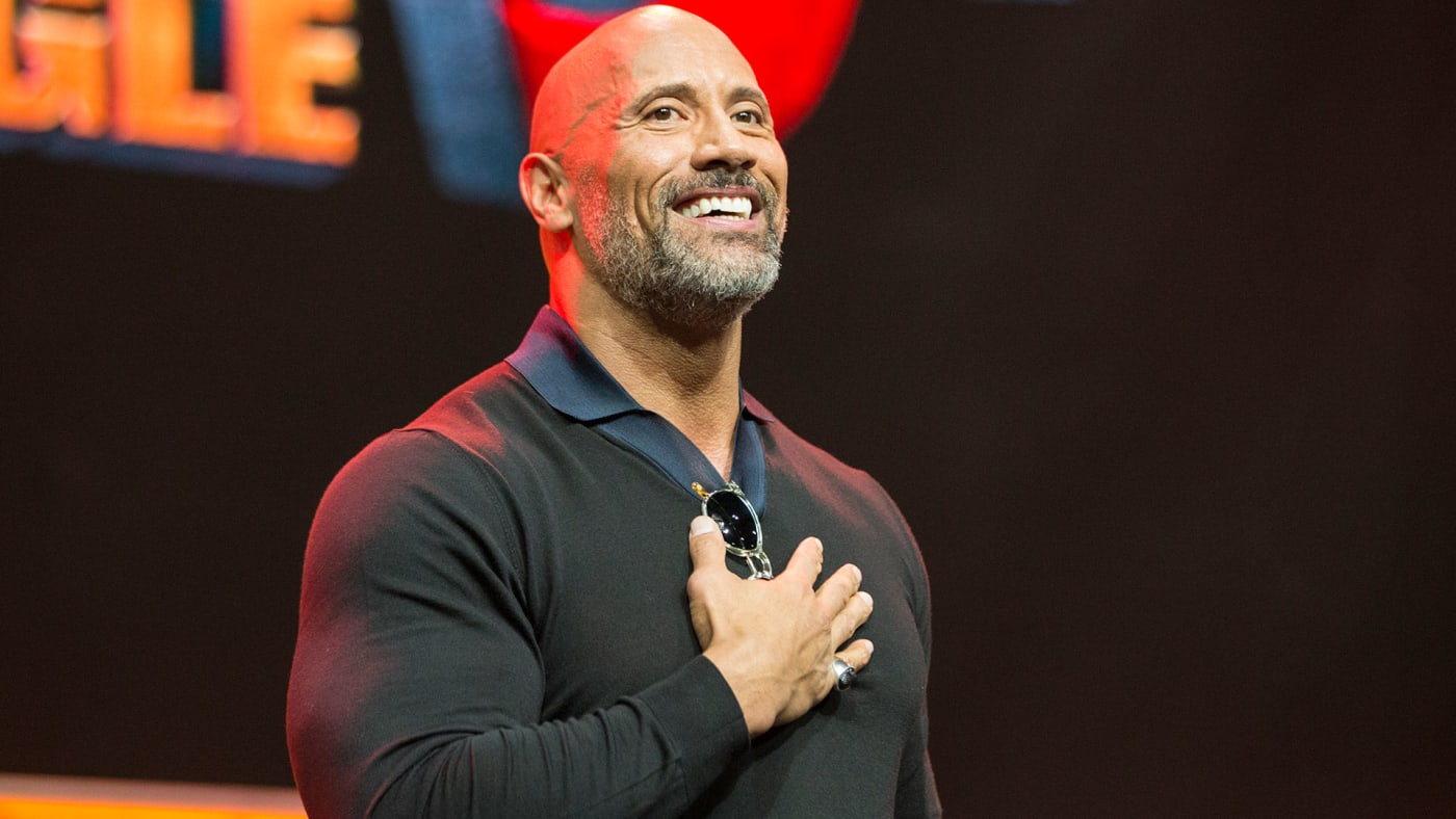 Actor Dwayne Johnson onstage at ENTERTAINMENT WEEKLY
