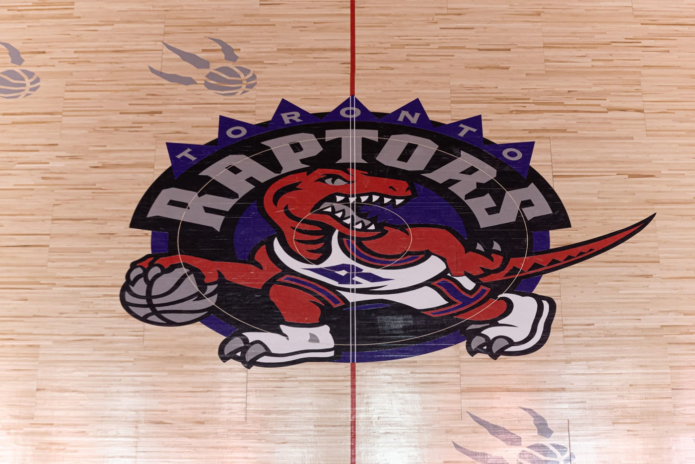toronto raptors halfcourt logo dinosaur retro