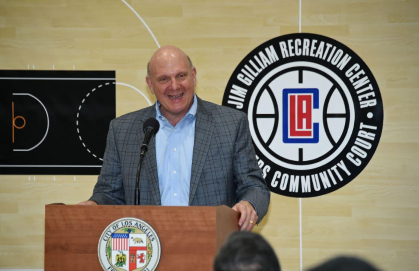 Owner of the LA Clippers, Steve Ballmer
