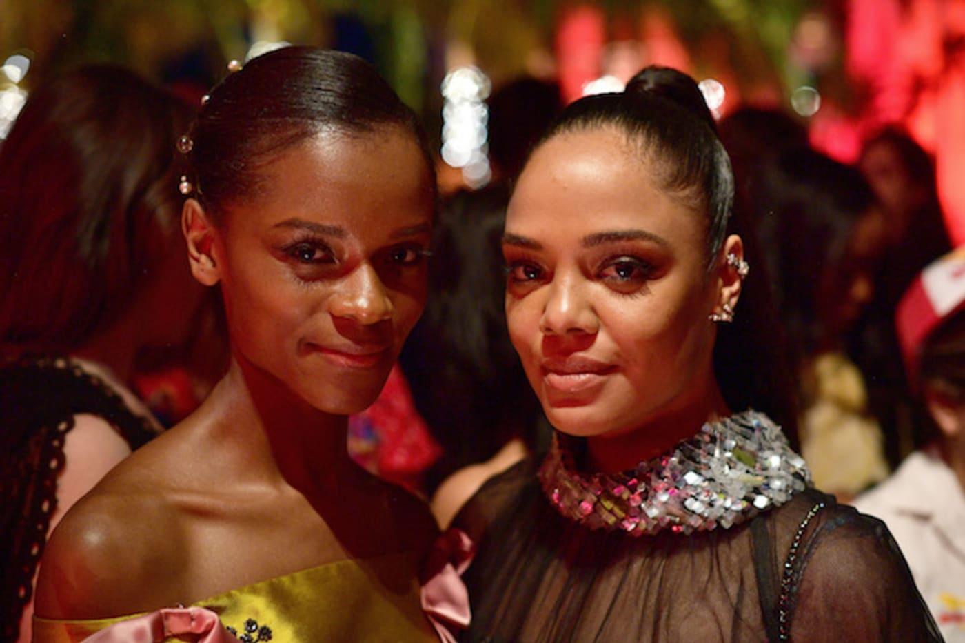 Letitia Wright and Tessa Thompson