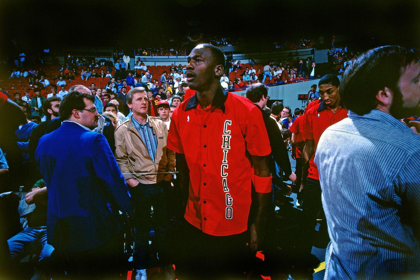 Michael Jordan Blazers 1988 Getty