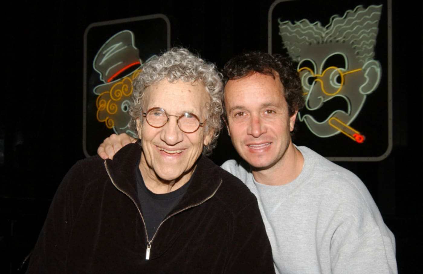 Sammy Shore and his son, comedian Pauly Shore