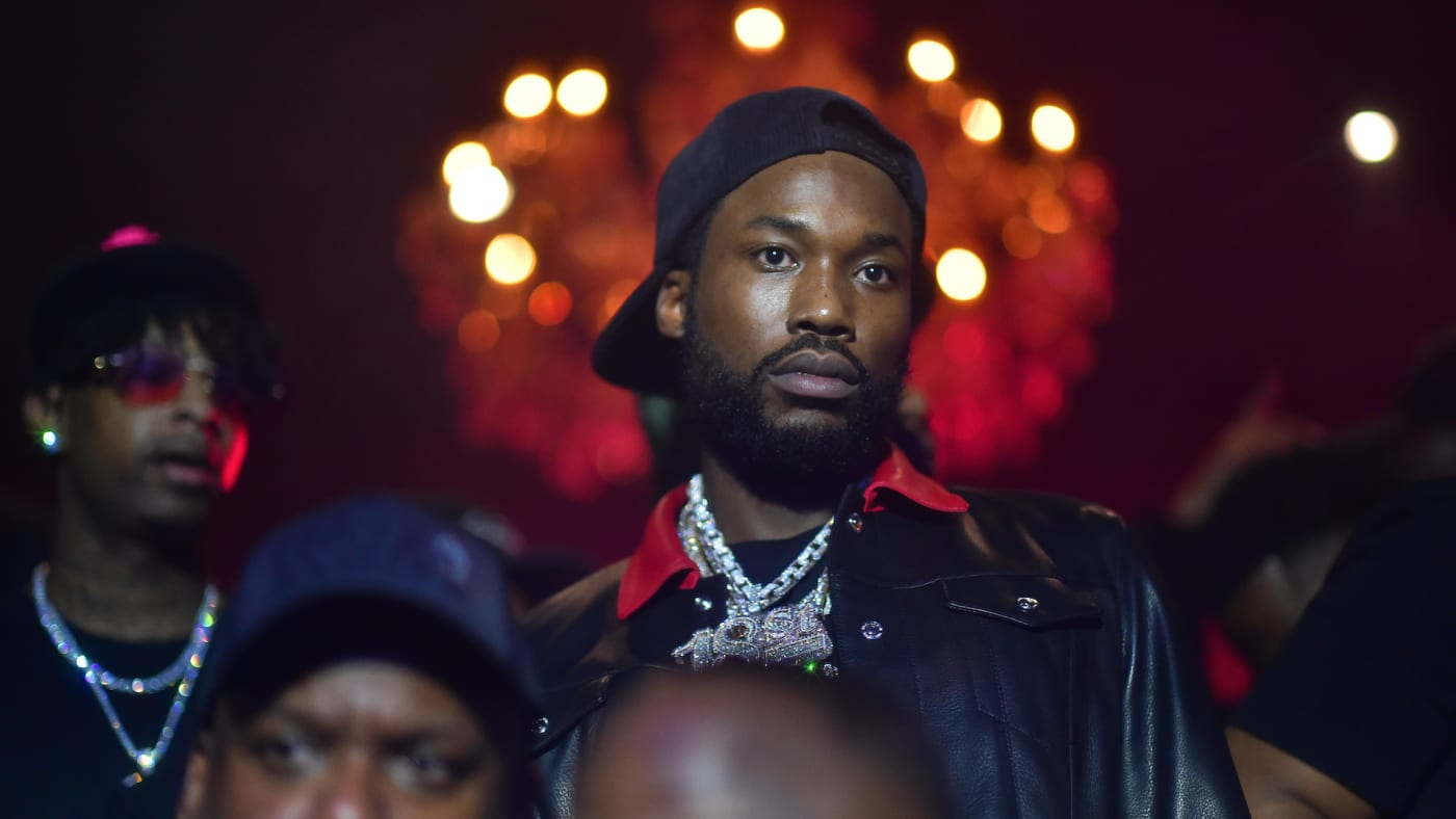 21 Savage and Meek Mill attend the All Black D'usse Affair at Compound