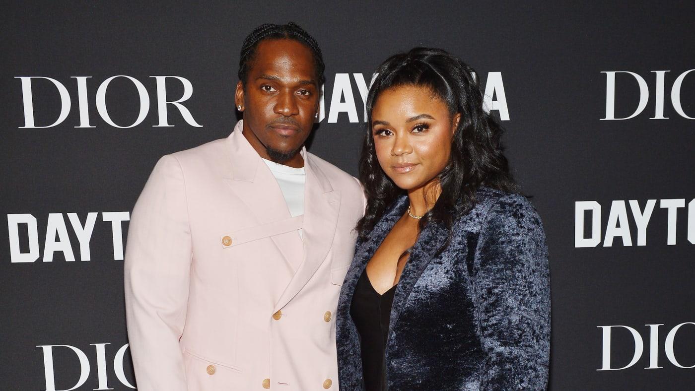 Pusha T and Virginia Williams attend Dior Celebrates Daytona Rap Album Of The Year.