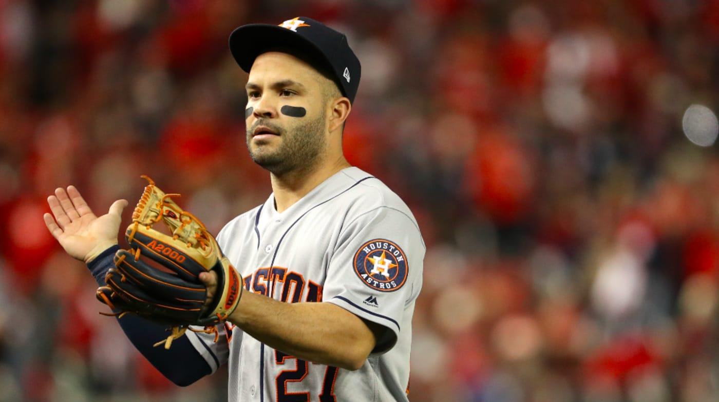 Jose Altuve #27 of the Houston Astros