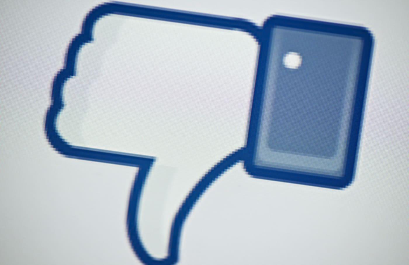 facebook downvote button getty
