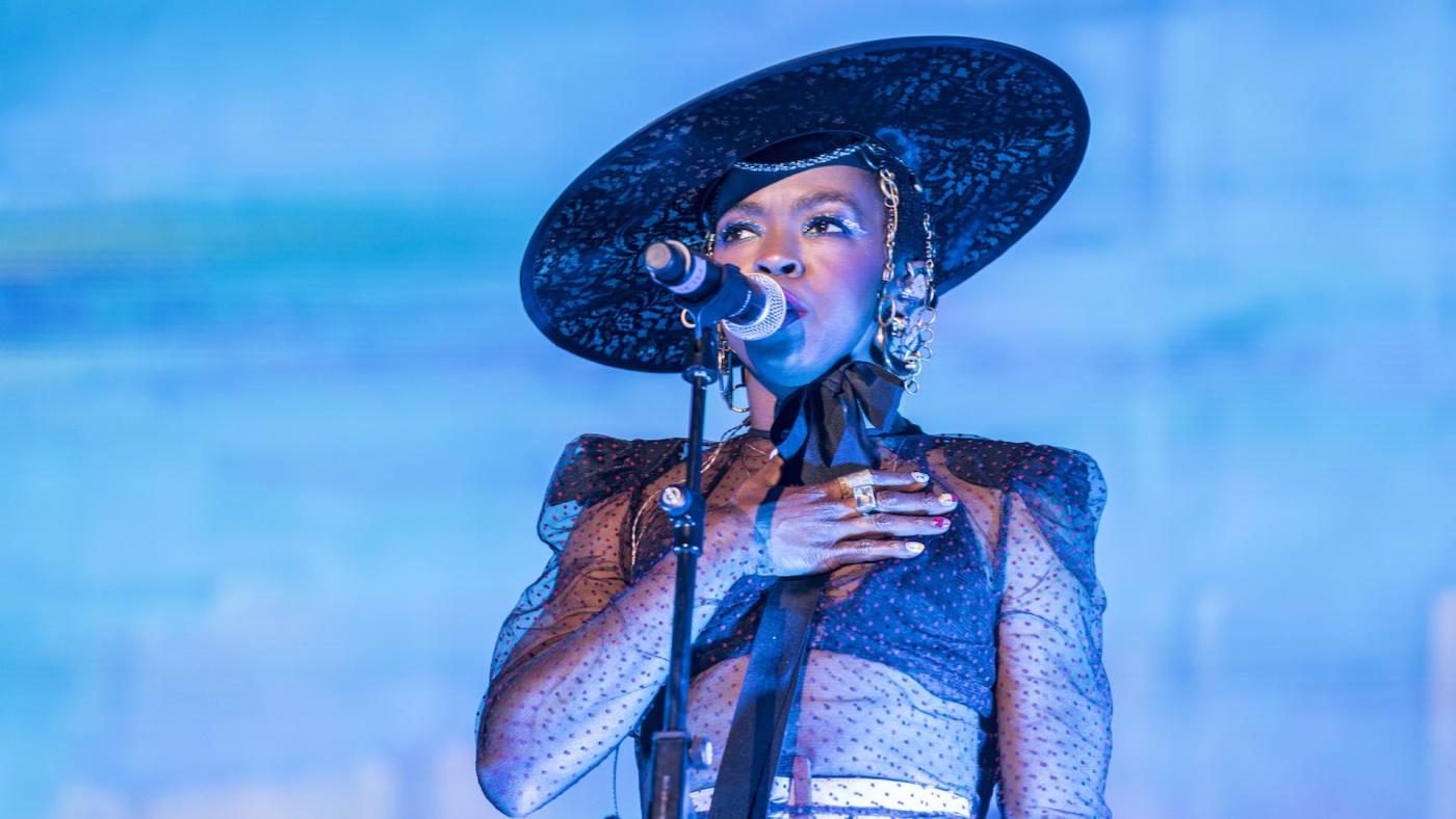Lauryn Hill performs on stage in Castrelos Park, Vigo