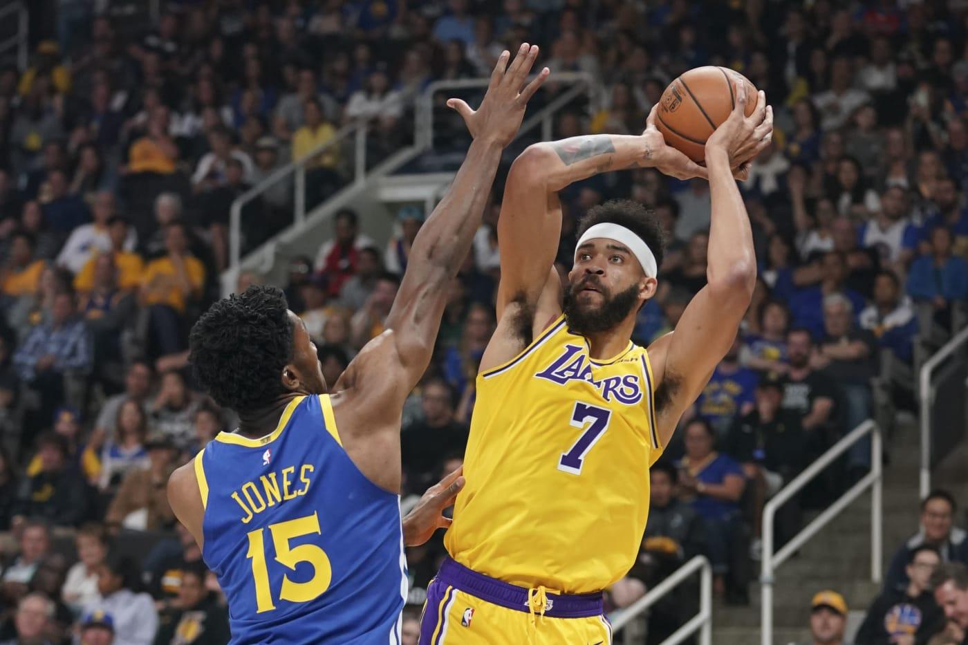 JaVale McGee Warriors Lakers Preseason 2018