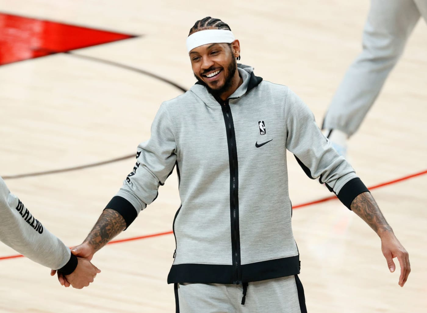 Carmelo Anthony Wolves Blazers 2021