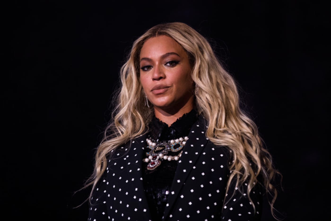 Beyoncé performs at a concert for Democratic Presidential candidate Hillary Clinton
