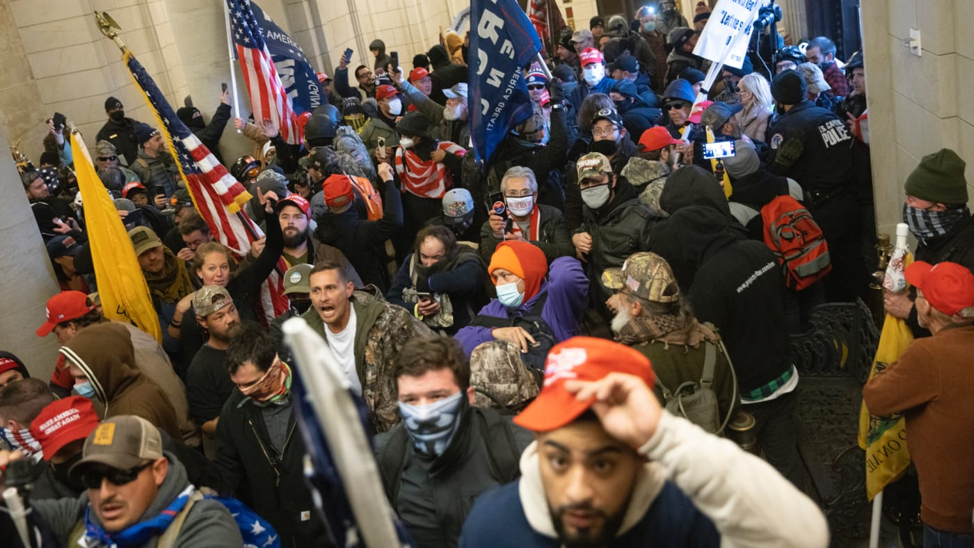 Rioters in the Capitol