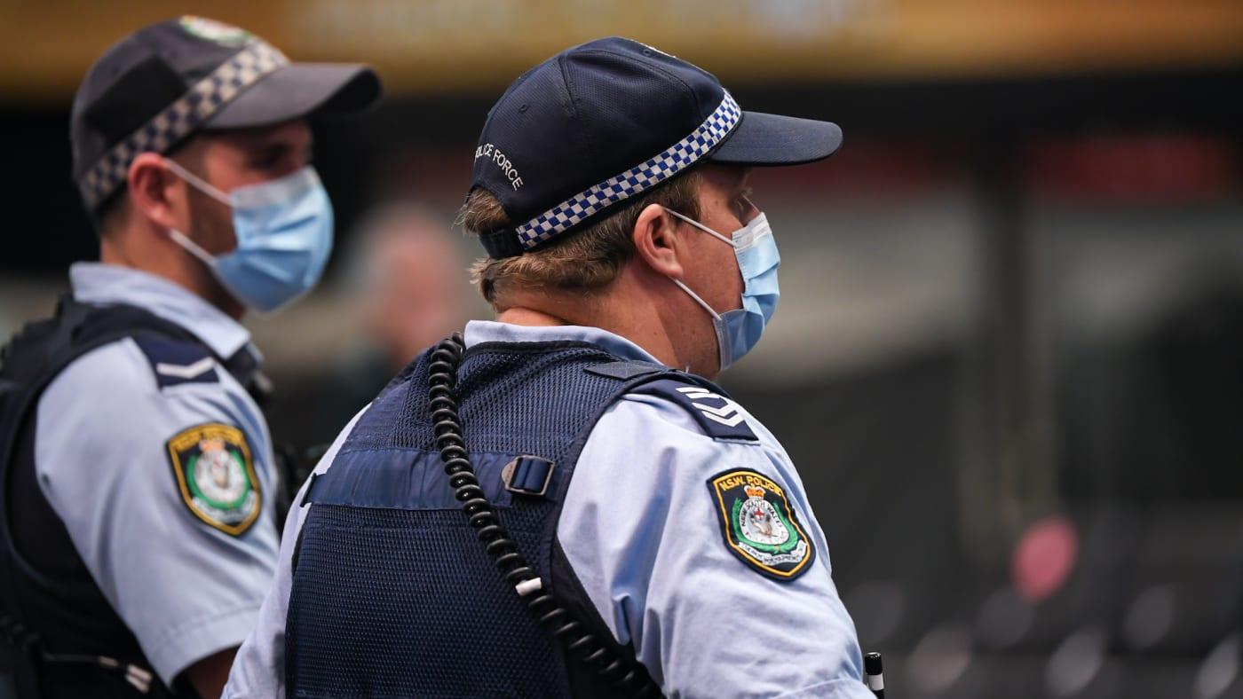 australia police masks