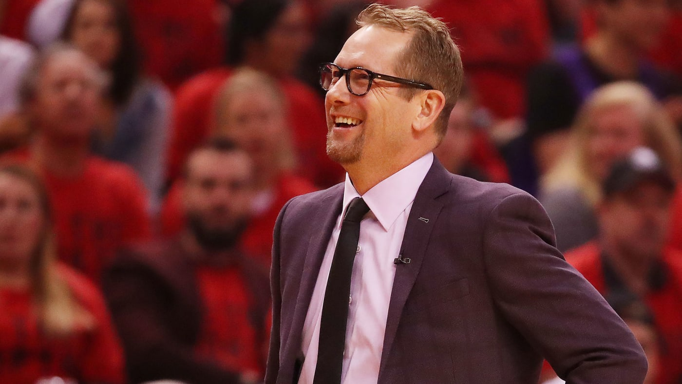 raptors coach nick nurse smiling